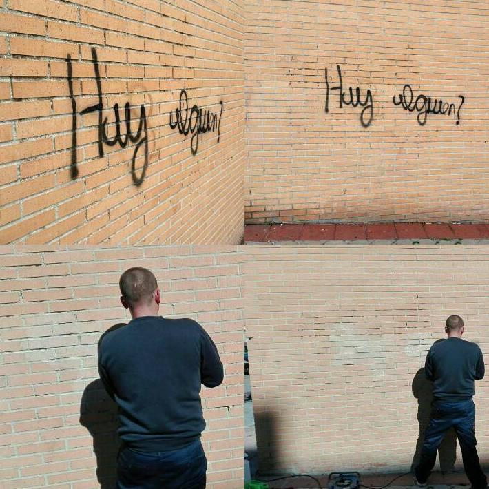 Eliminación de grafitis