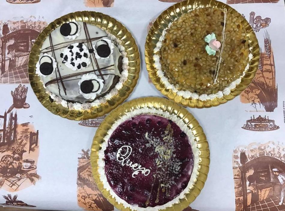 Tarta de oreo, tarta de queso y tarta de piñones