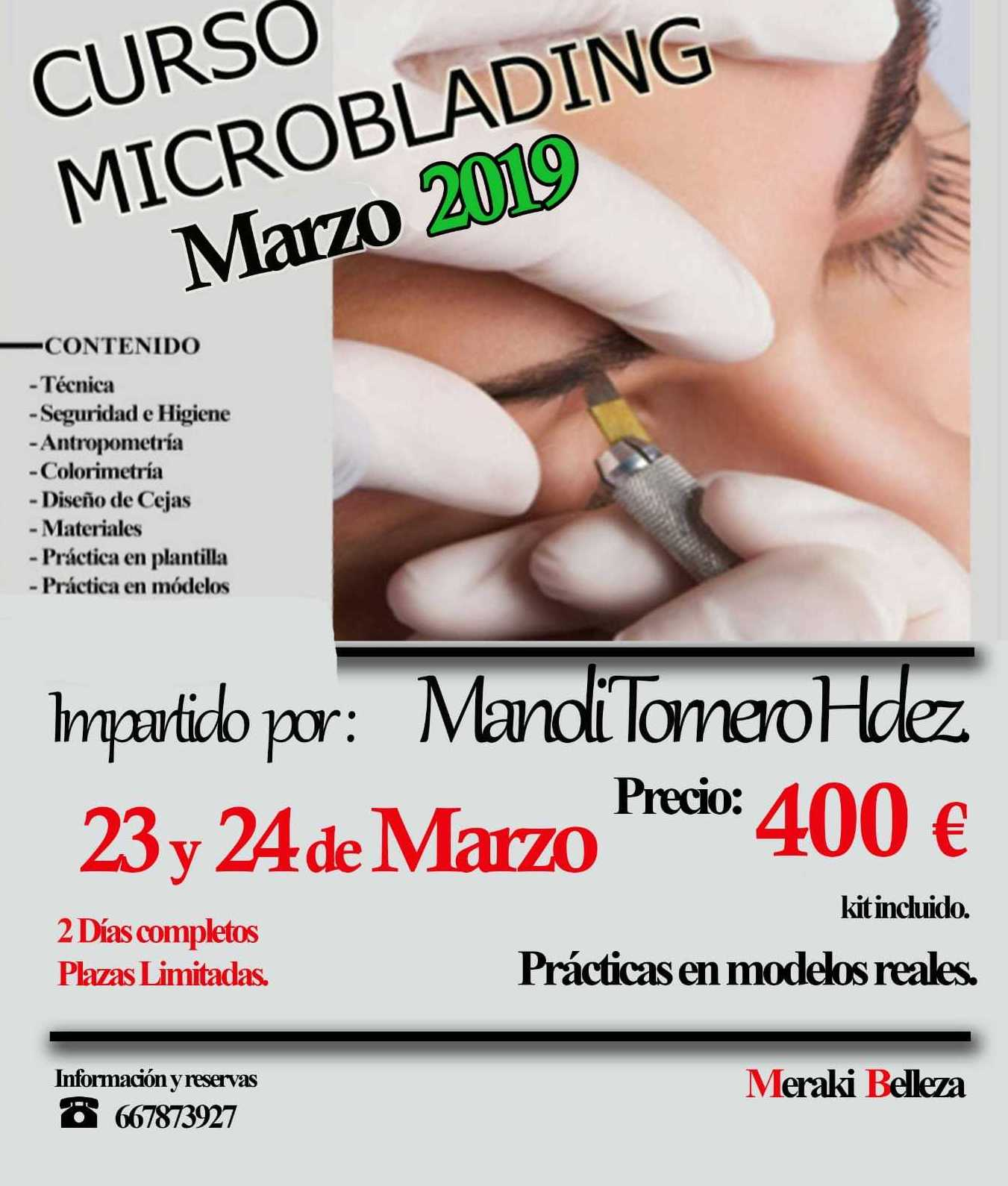 Curso Microblading Marzo 2019