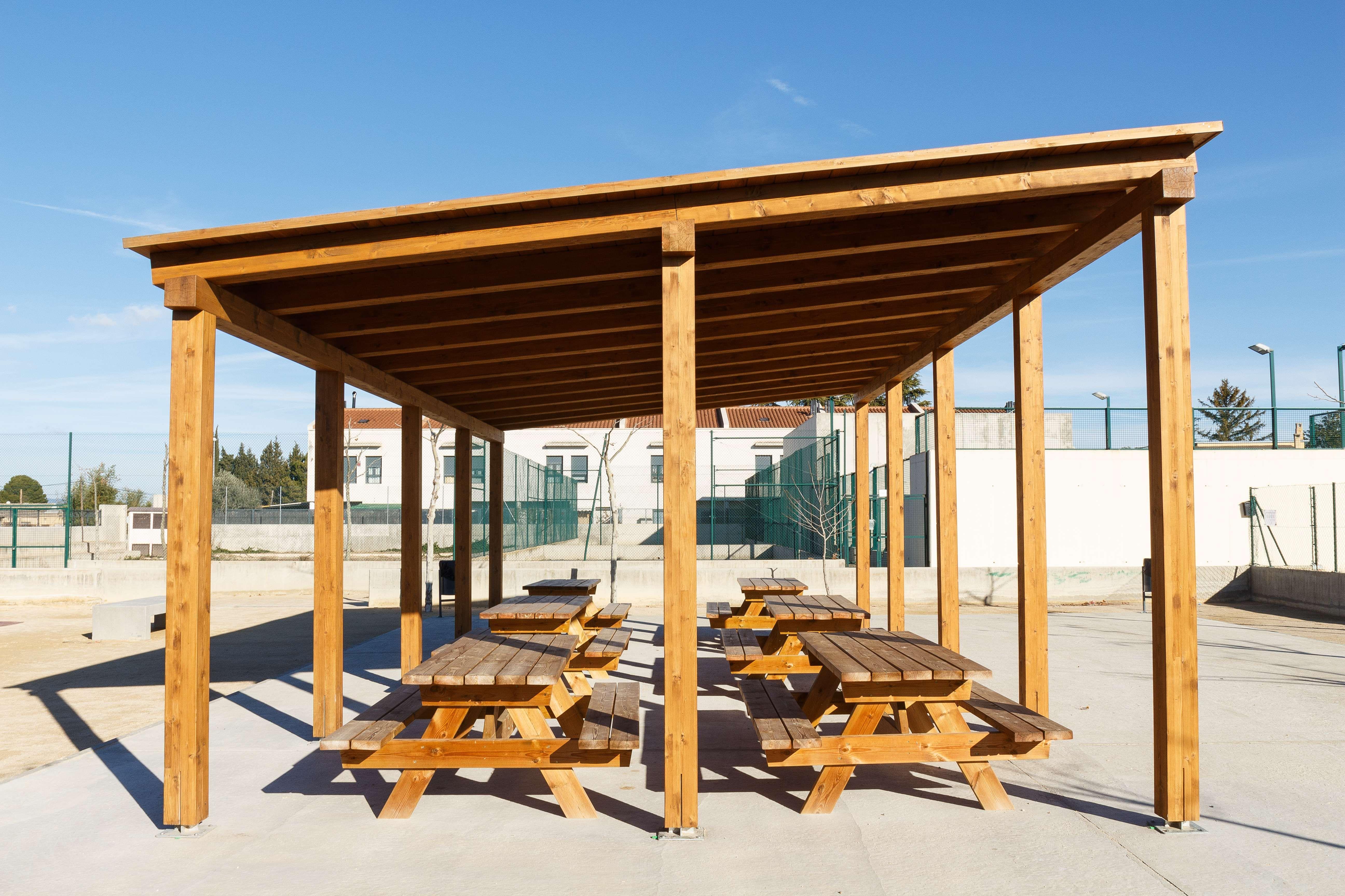 Instalación de pérgolas de madera en Aragón