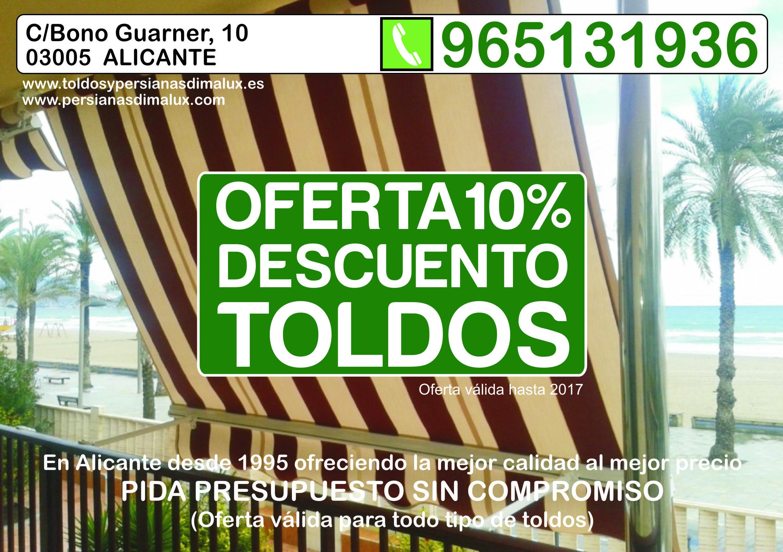 oferta de toldos en Alicante