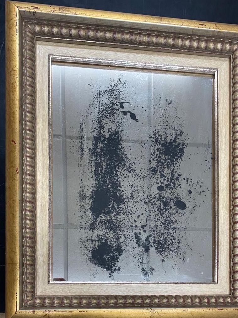 Espejo envejecido con marco. Cristalería Formas
