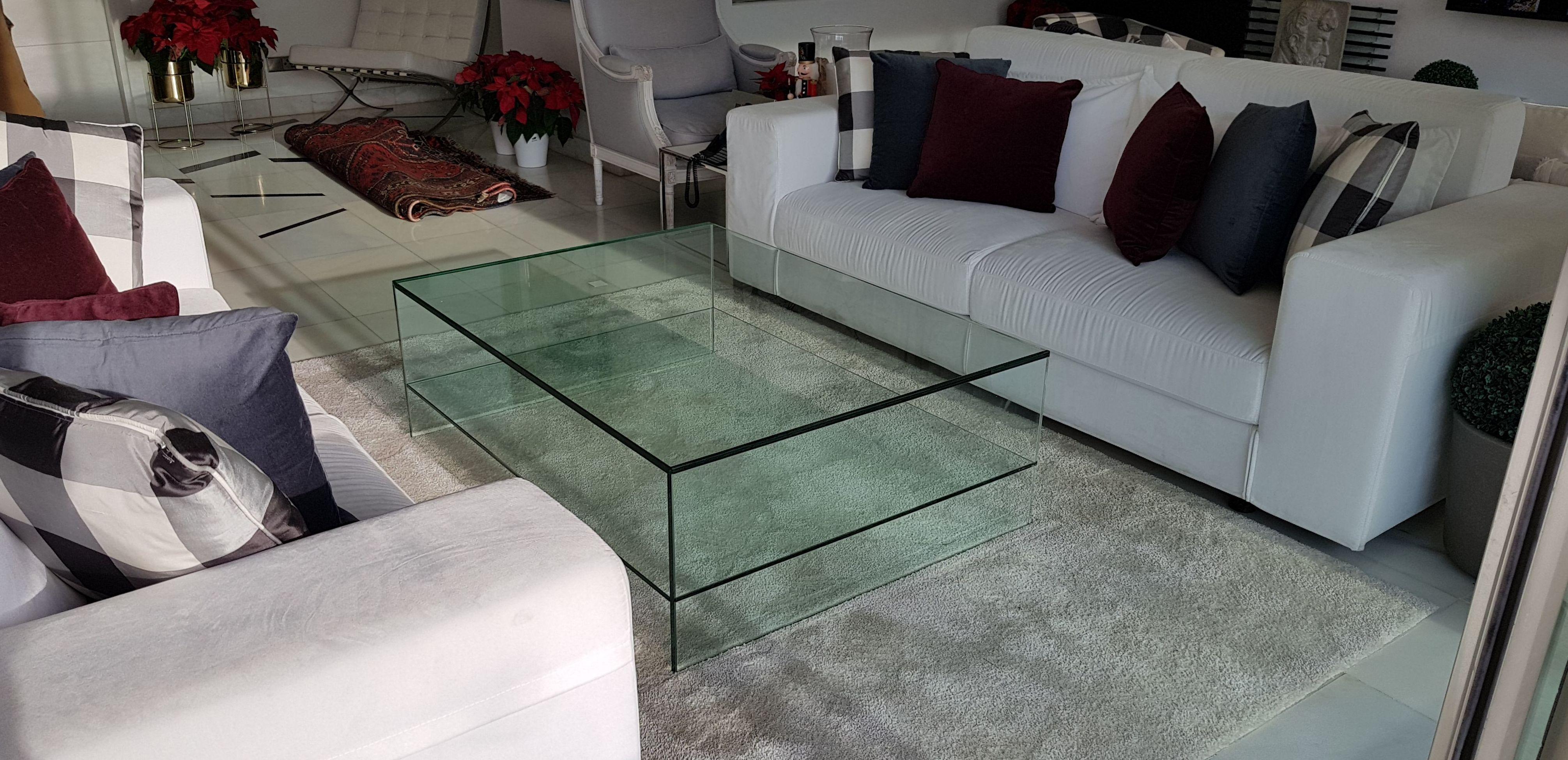 Mesa de vidrio templado a medida. Cristalería Formas