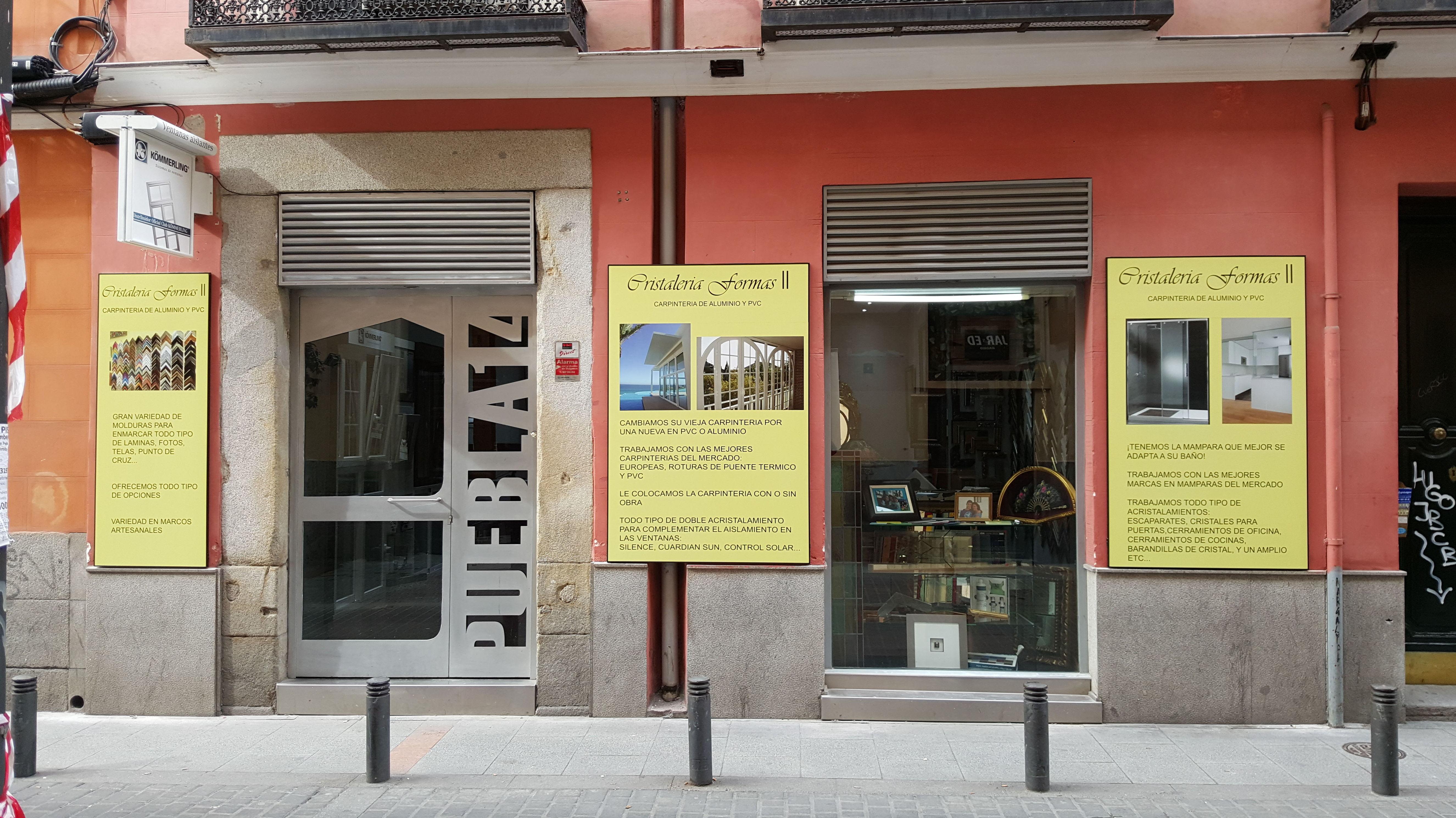 CRISTALERIA FORMAS II C/ PUEBLA, 14 28004 MADRID