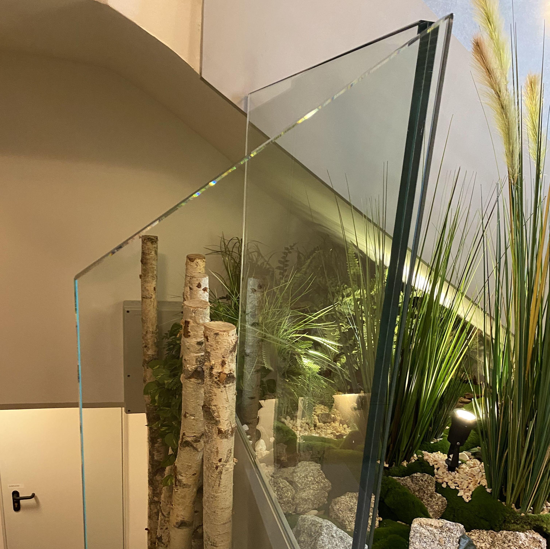 Barandilla de vidrio laminar