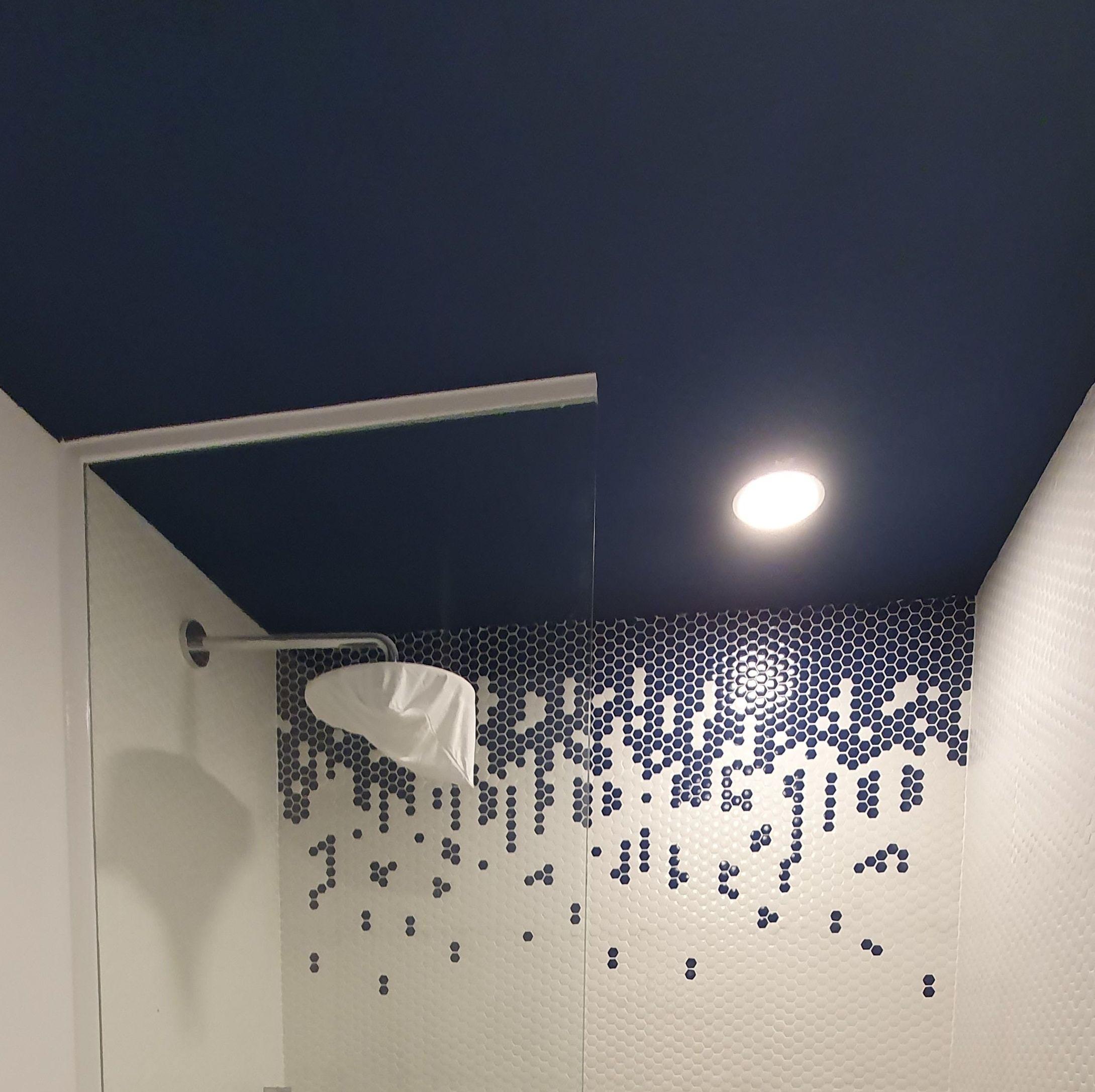 Mampara de ducha, fijo de vidrio templado. Cristaleria Formas