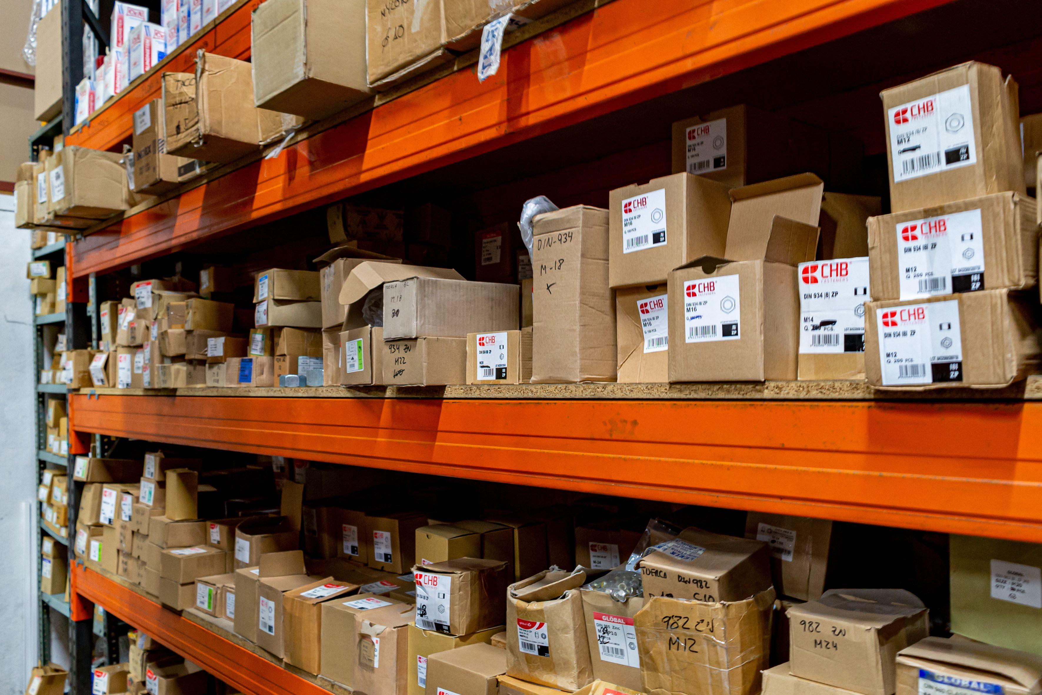 Cajas almacenadas
