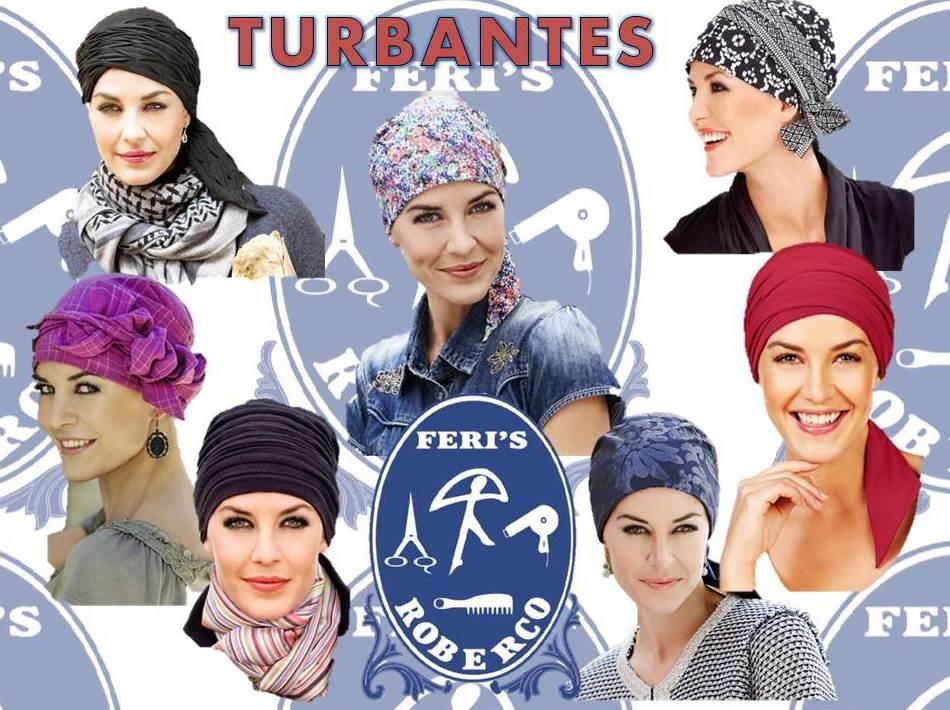 Gran surtido de modelos de turbantes