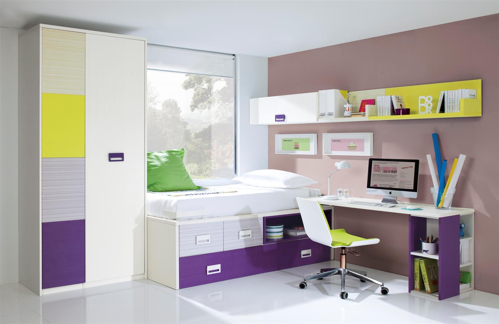 Dormitorio juvenil composicion n 02 cat logo de el rey de for Catalogo de camas