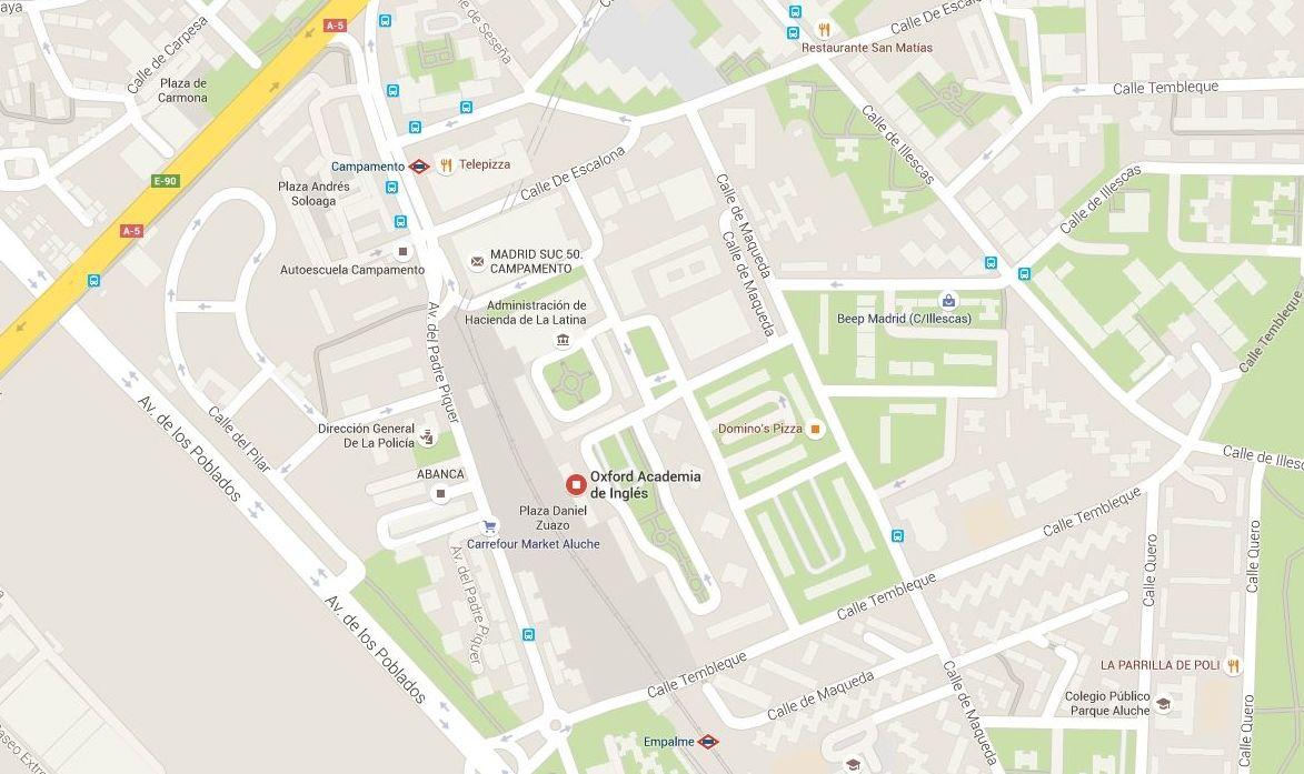 Localización Centro C/ Tembleque, 134