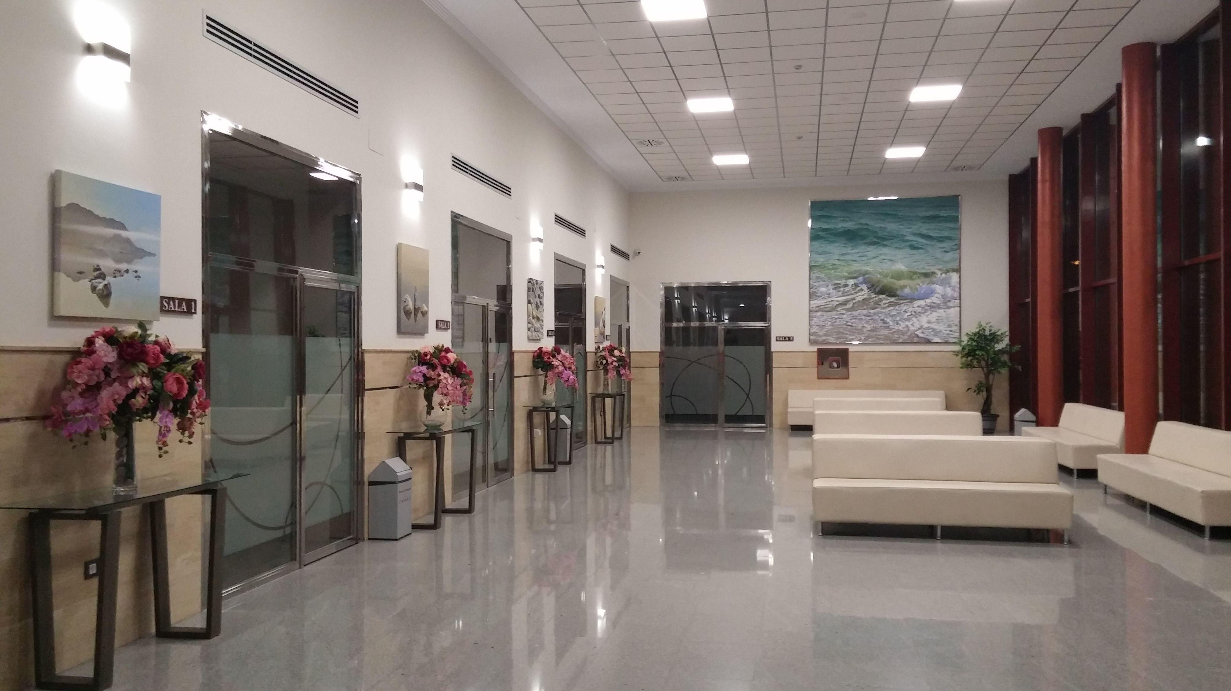 Hall de entrada a Salas
