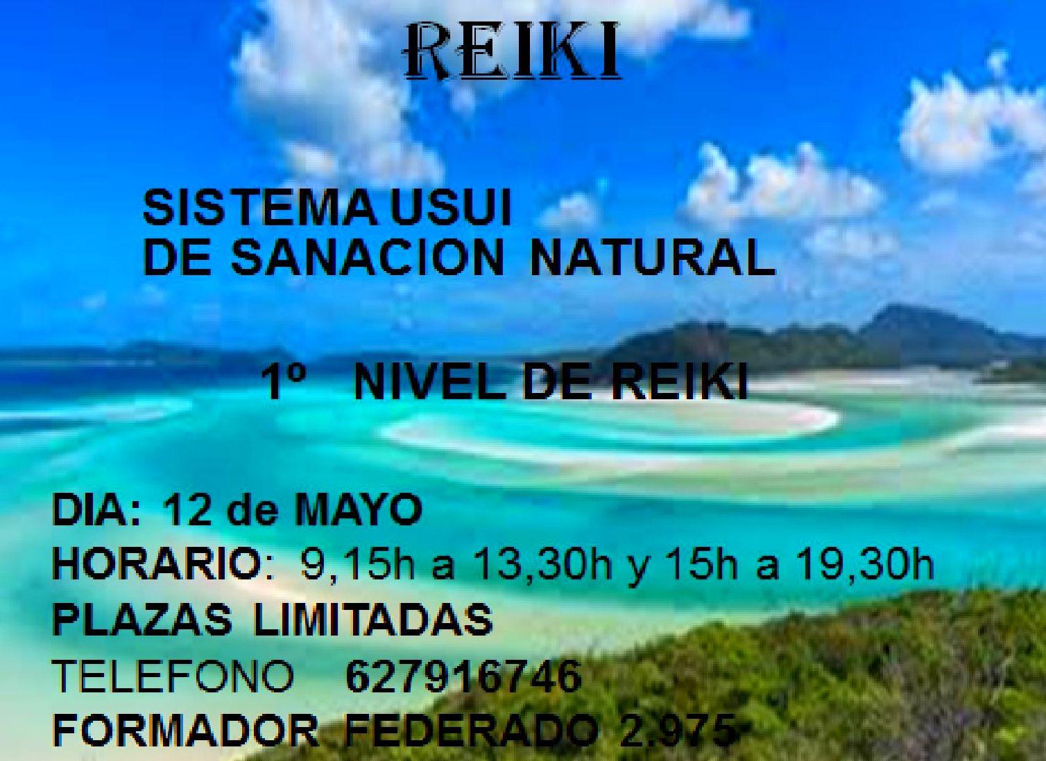 1º nivel de Reiki,  en Eibar,     MAYO