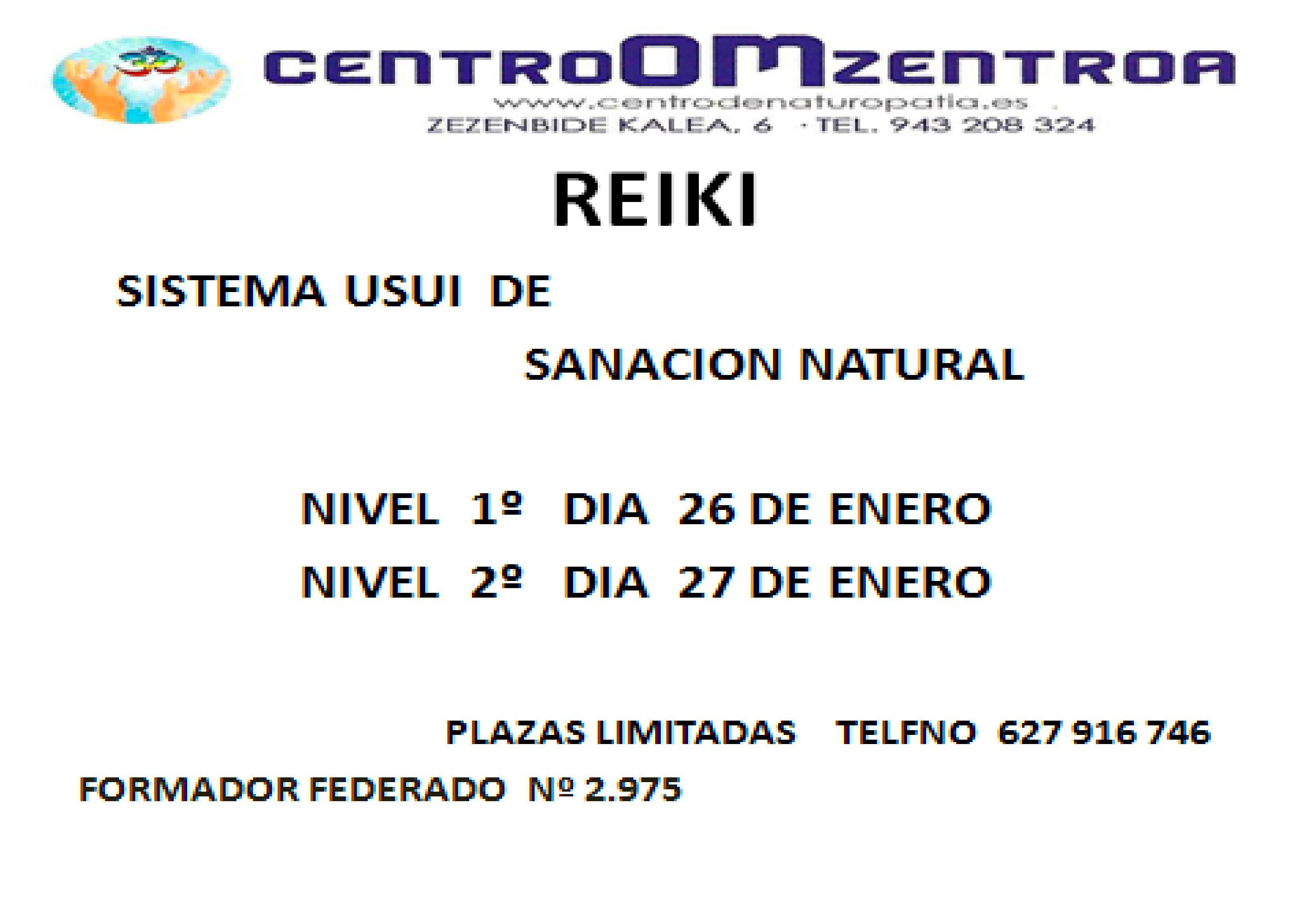 CHUDEN,   2º  Nivel de Reiki,  en Eibar  ENERO