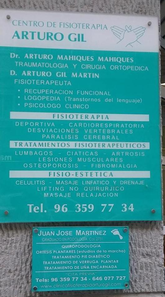 Foto 2 de Fisioterapia en Valencia | Clínica Fisioterapia Arturo Gil