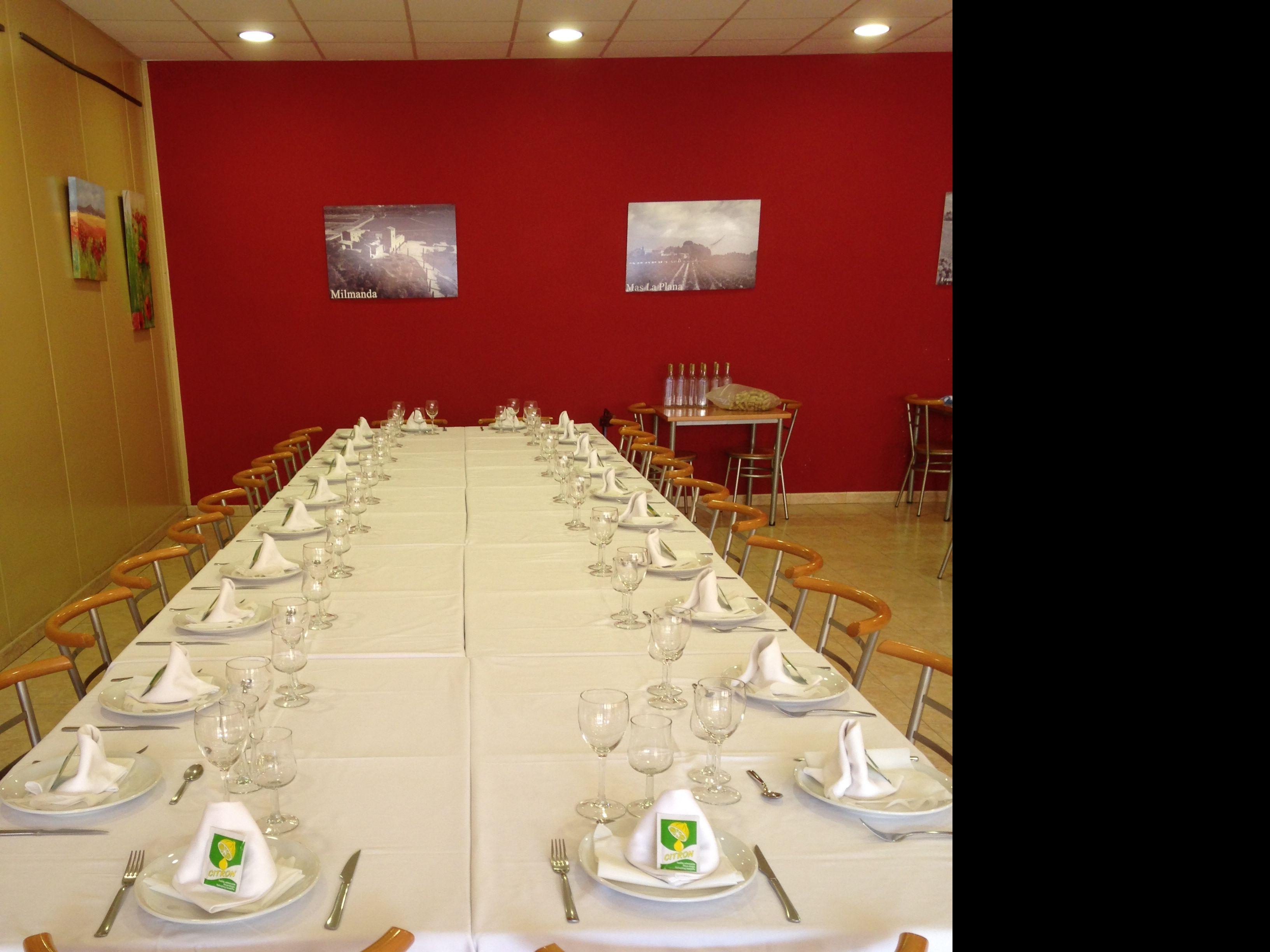 Menús para celebraciones Vilafranca del Penedès