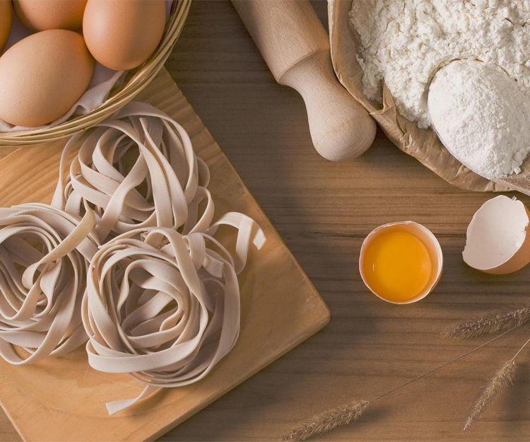 Pasta con productos naturales