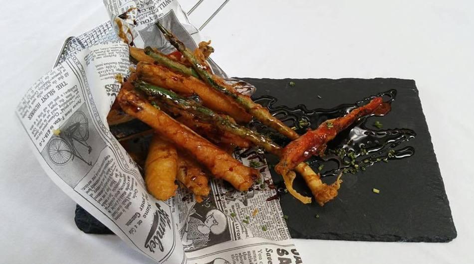 Tempura de verduras.