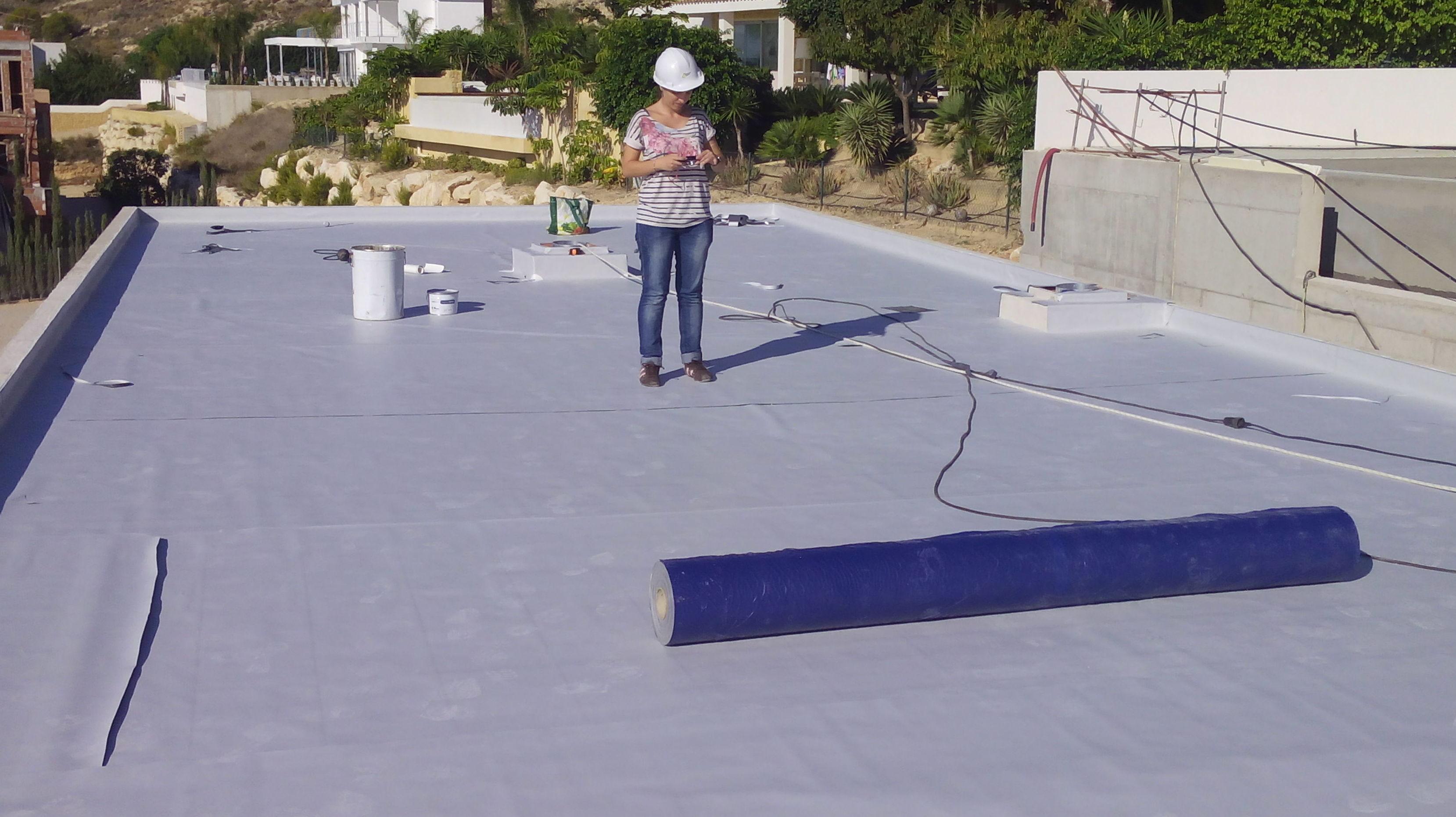 Cubierta con lámina PVC en Finestrat (Alicante)