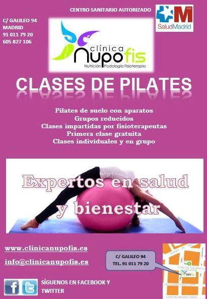 clases de pilates Clínica Nupofis