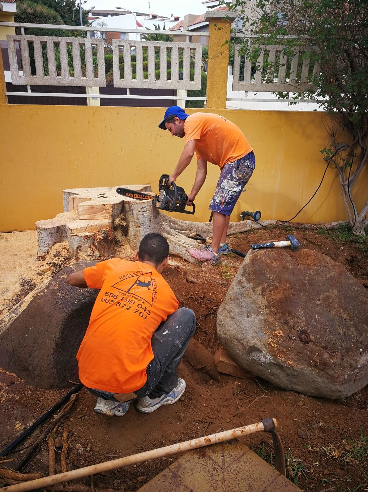 Trabajo realizado en camino del Hierro Santa cruz de Tenerife