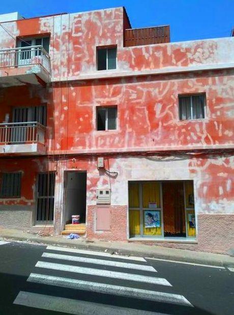 Pintura de fachada Los andenes.