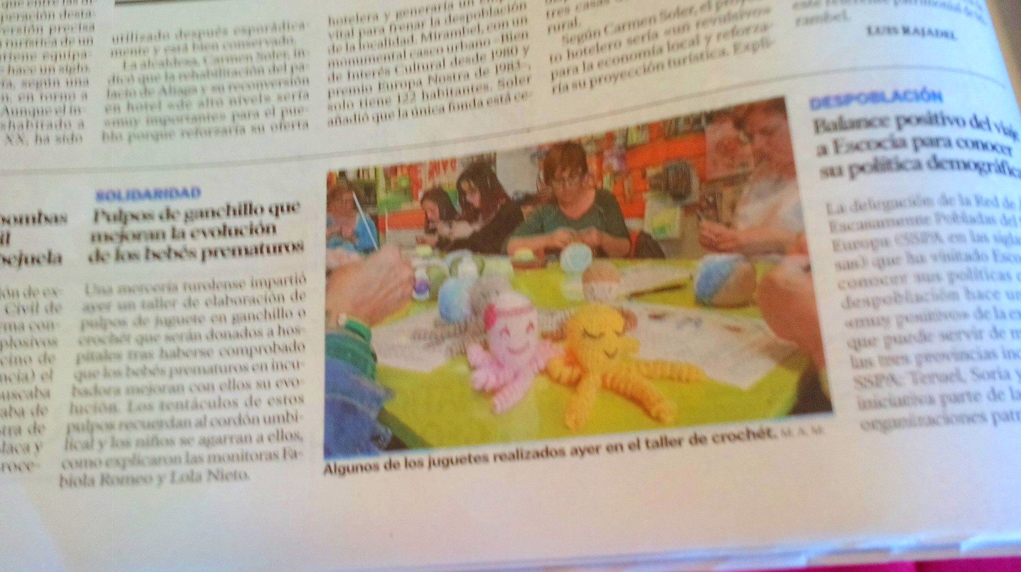"""Publicación en el """"Heraldo de Aragon"""" y el """"Diario de Teruel"""""""