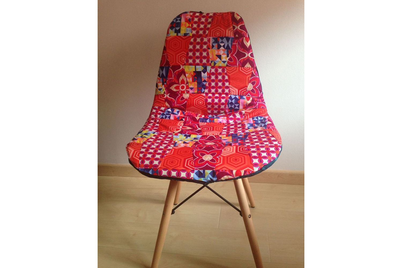 Funda para silla de patchwork en Teruel