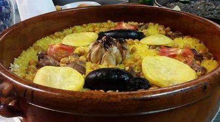 Comer arroz en Sagunto