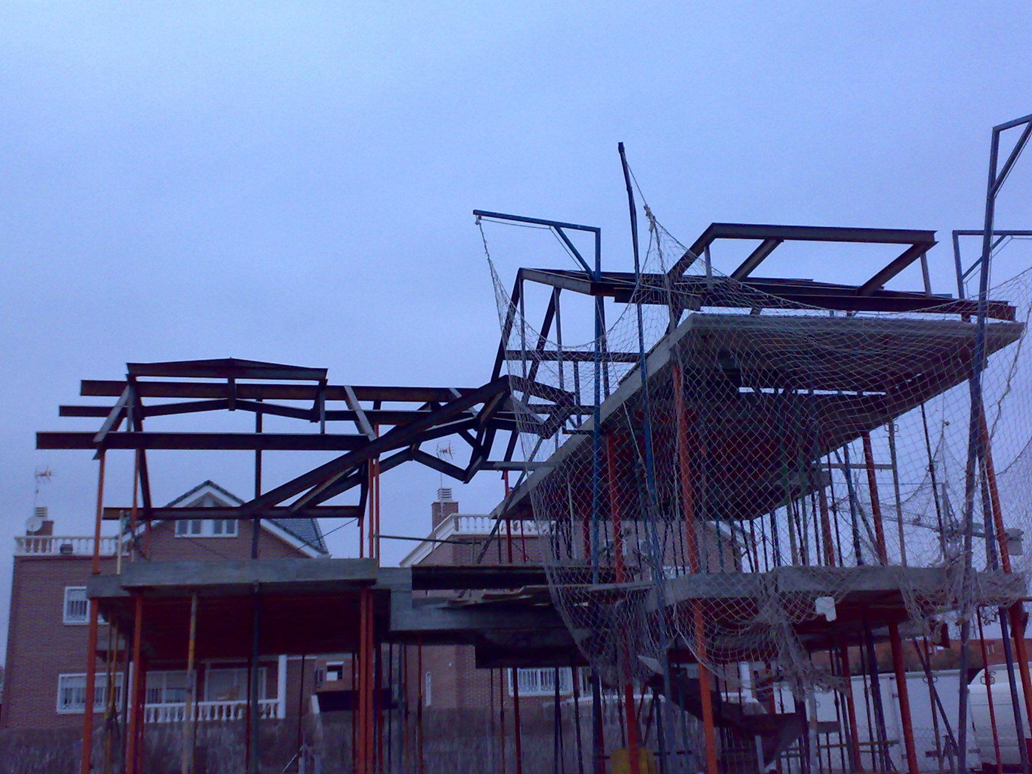 estructura de cubierta para vivienda unifamiliar