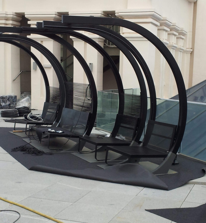 asientos de terraza cibeles Madrid