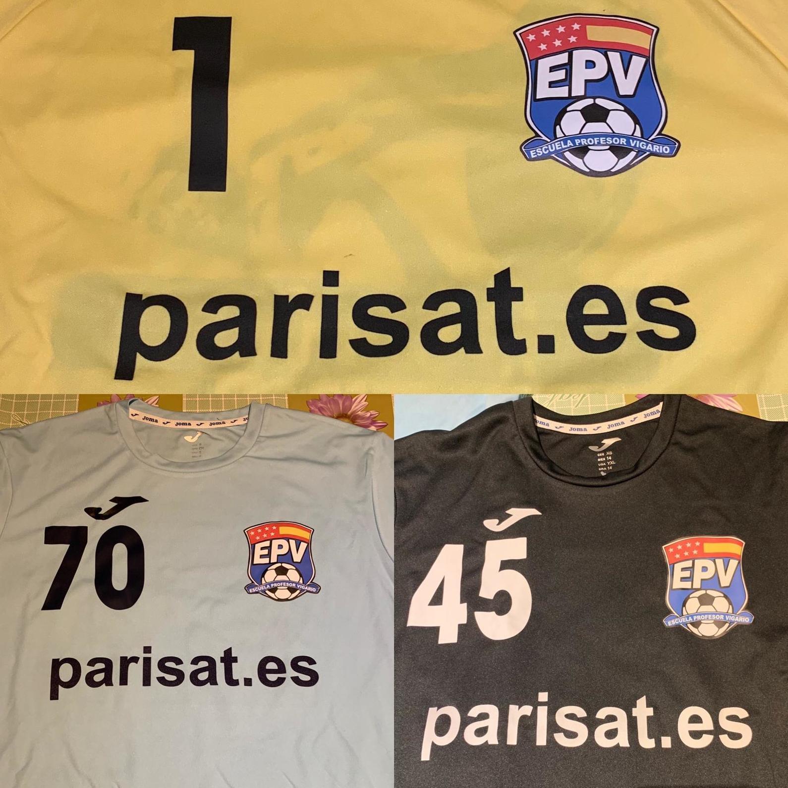 Patrocinio del equipo de fútbol de la Escuela Profesor Vigario