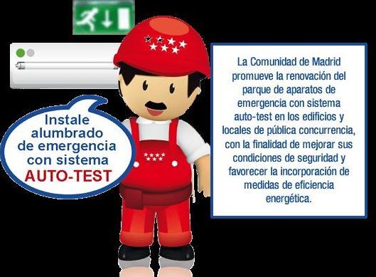 Instale alumbrado de emergencia con sistema AUTO-TEST
