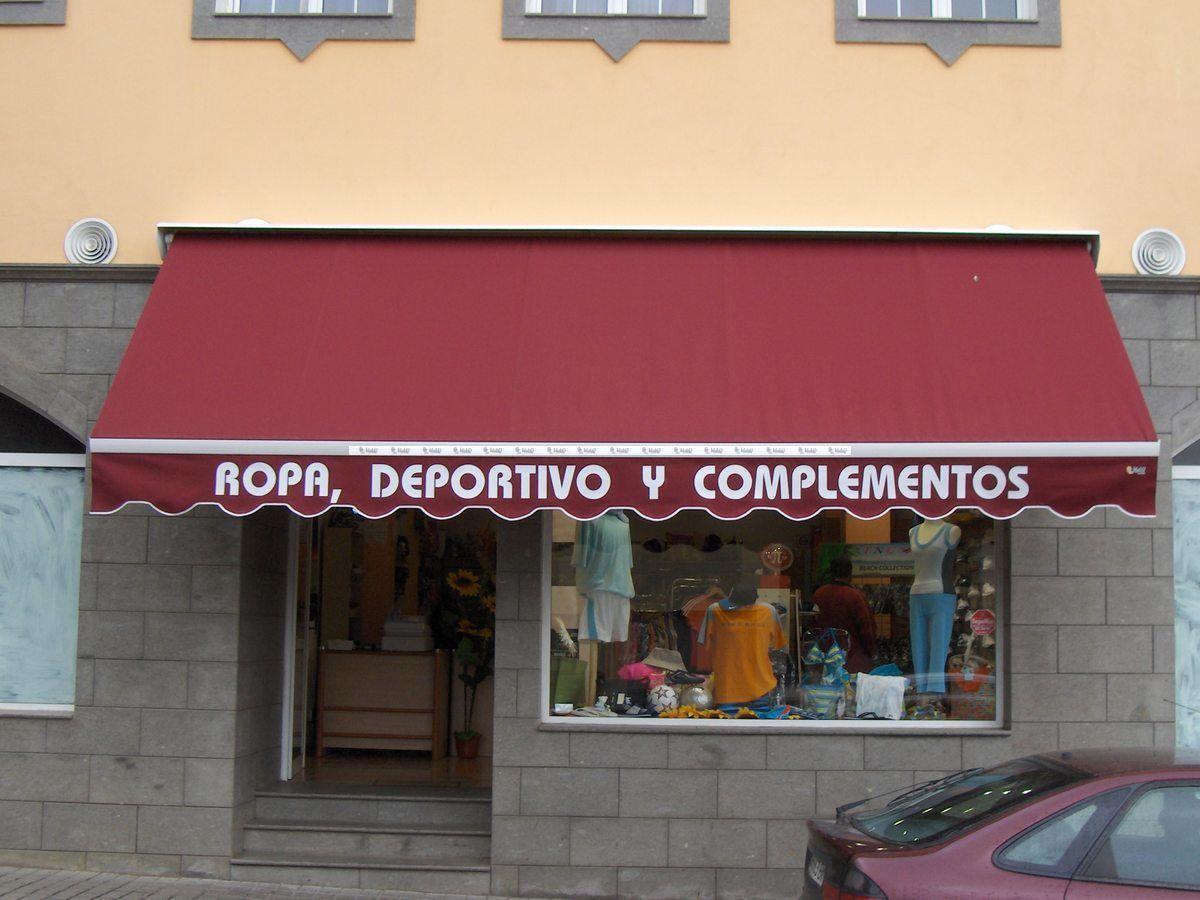 Toldos para locales comerciales