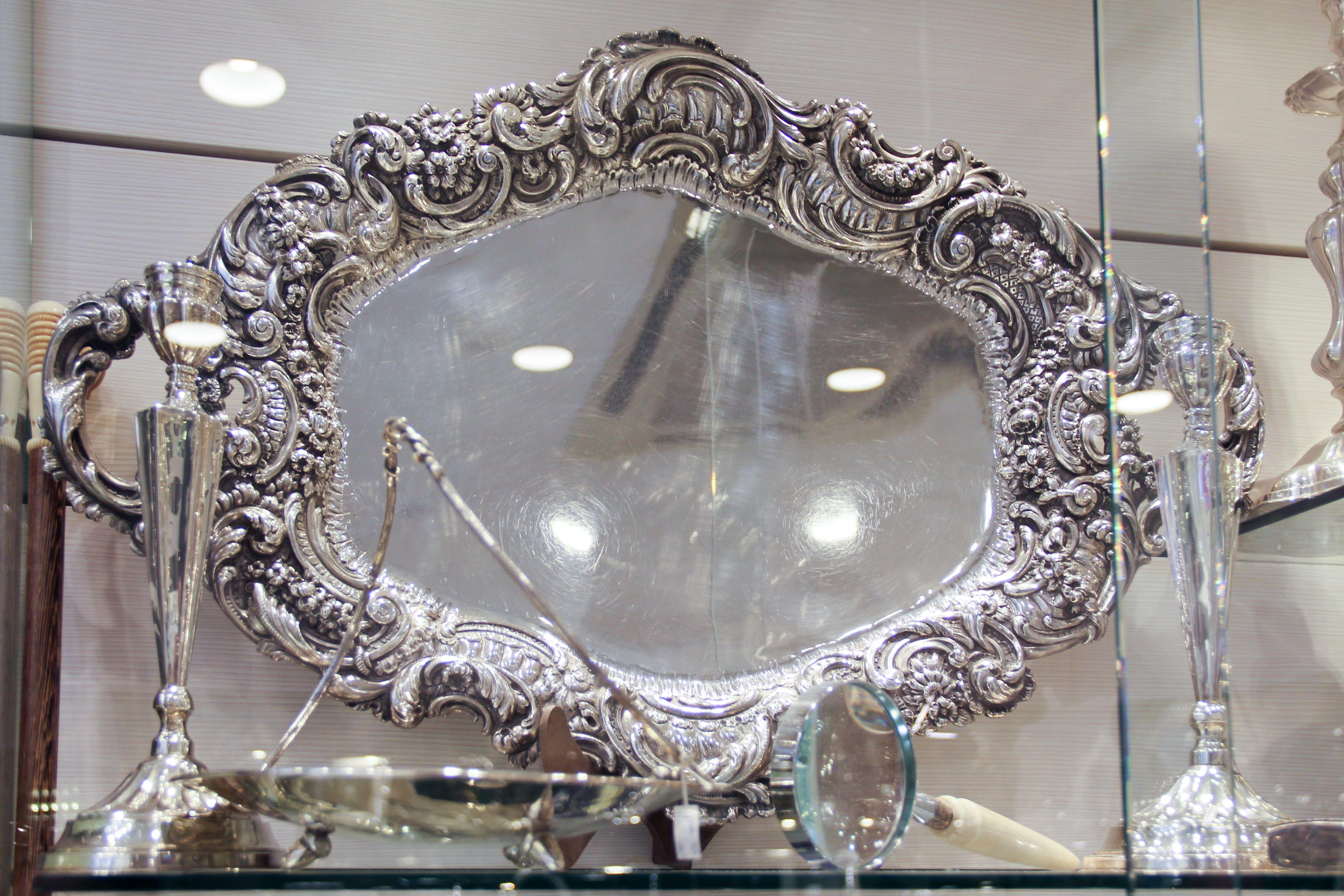 Espejo de plata de ley