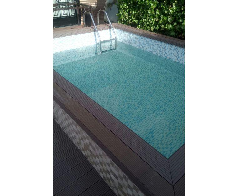 Realización de piscina sobre garaje