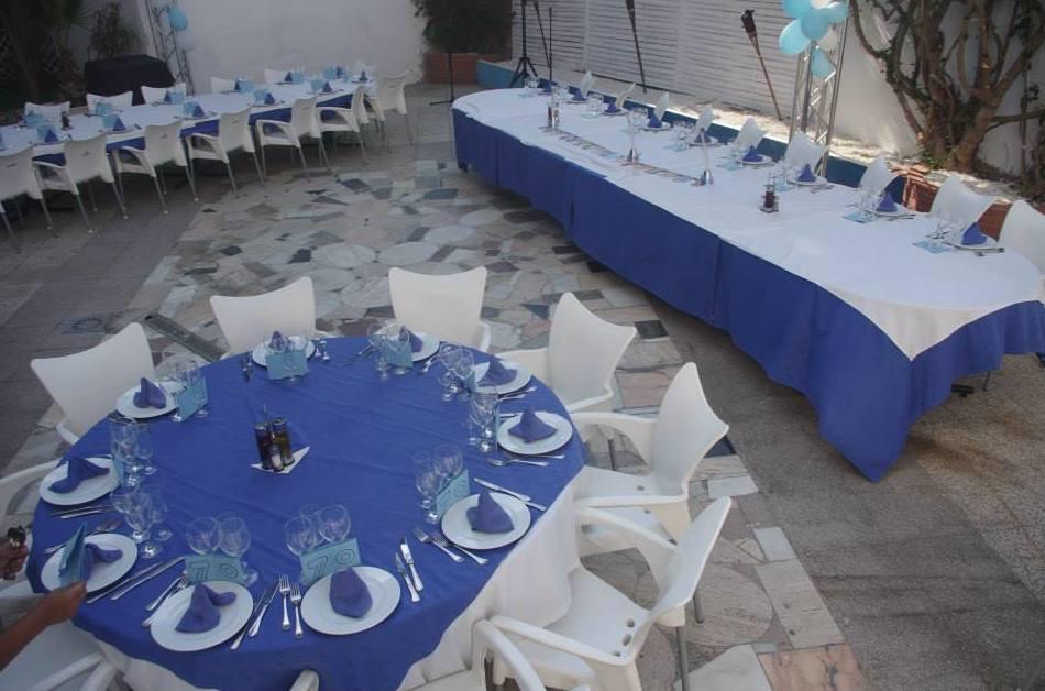 Celebraciones en la terraza del  Restaurante Margu