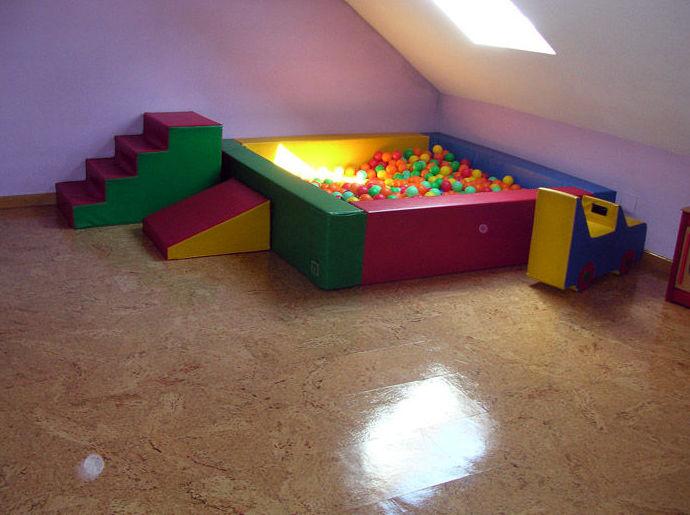 Patio interior para jugar