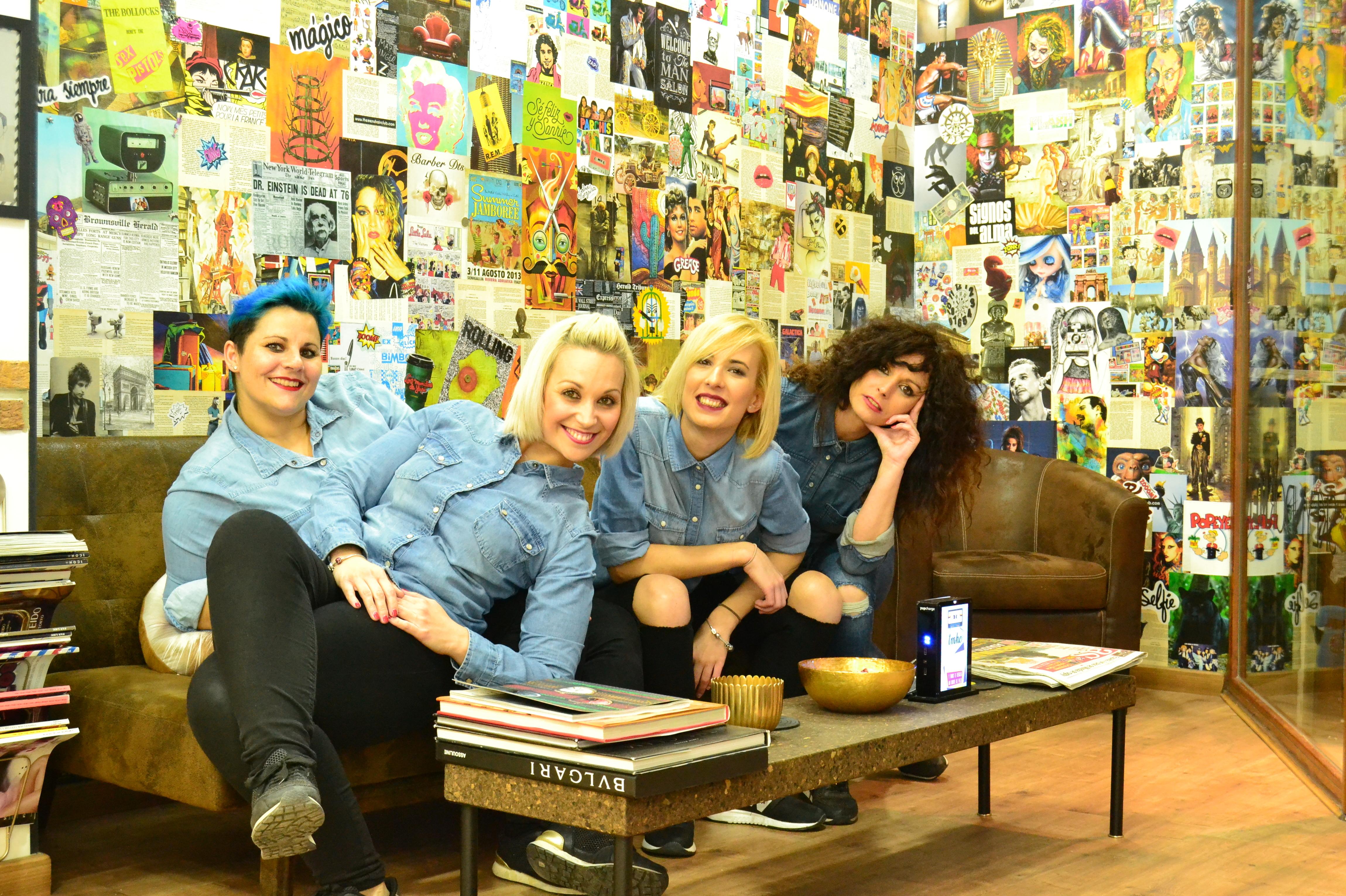 Beatriz, Sandra, Alex y Elena