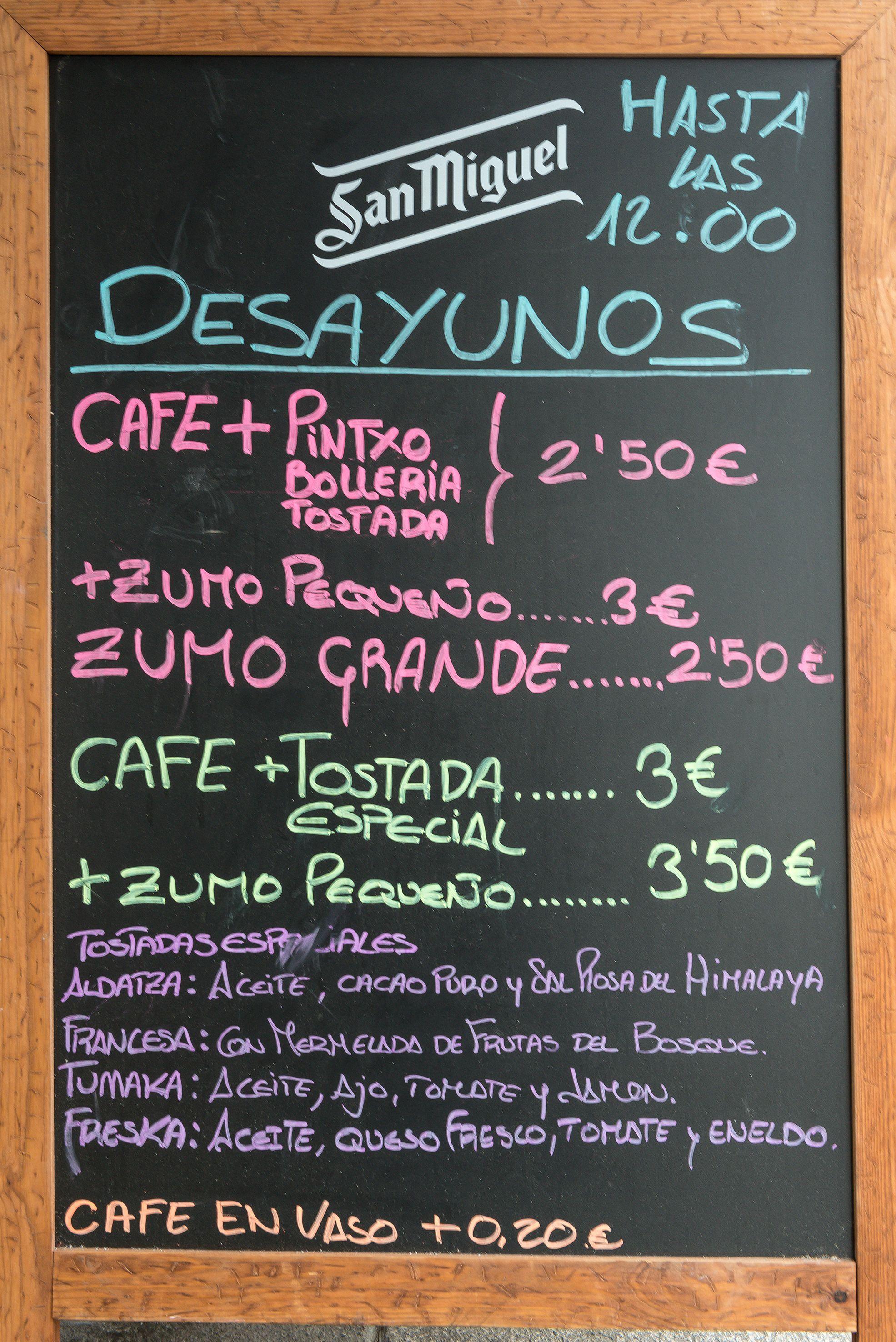 Desayunos, comidas y cenas al mejor precio en Taberna Aldatza Portugalete