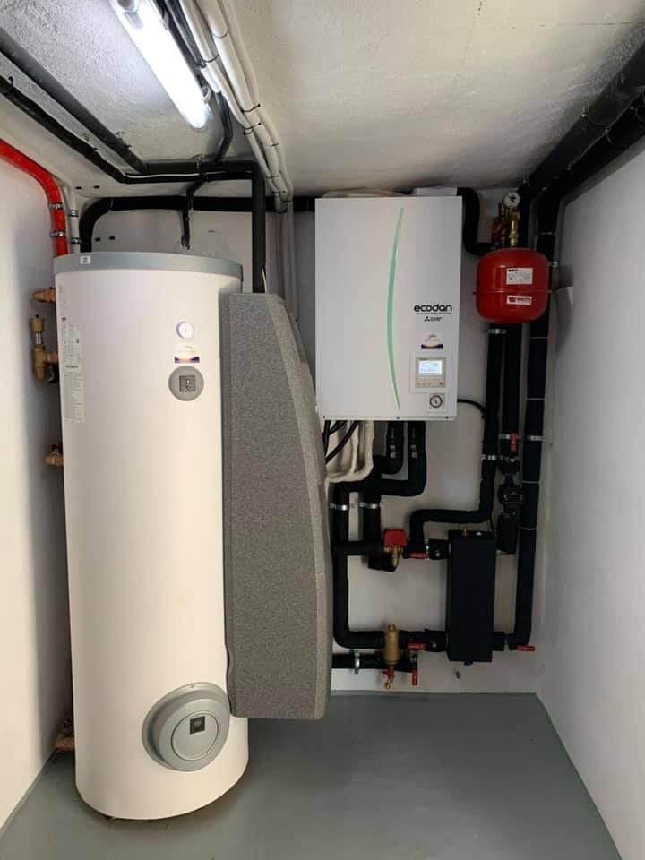 Instalación de calefacción por aerotecnia