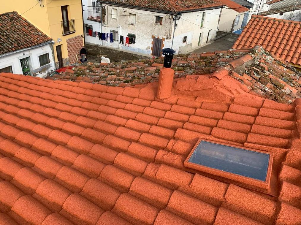 Corcho natural sobre teja