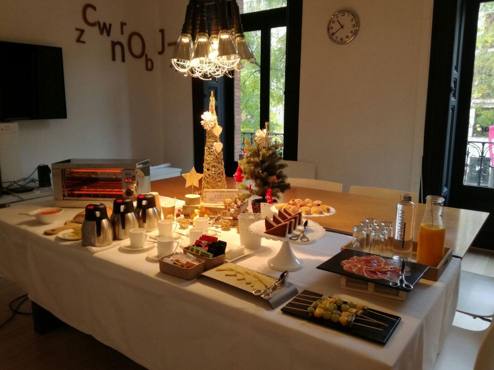 Desayuno Antiox con Catering Domenico para empresas en Madrid