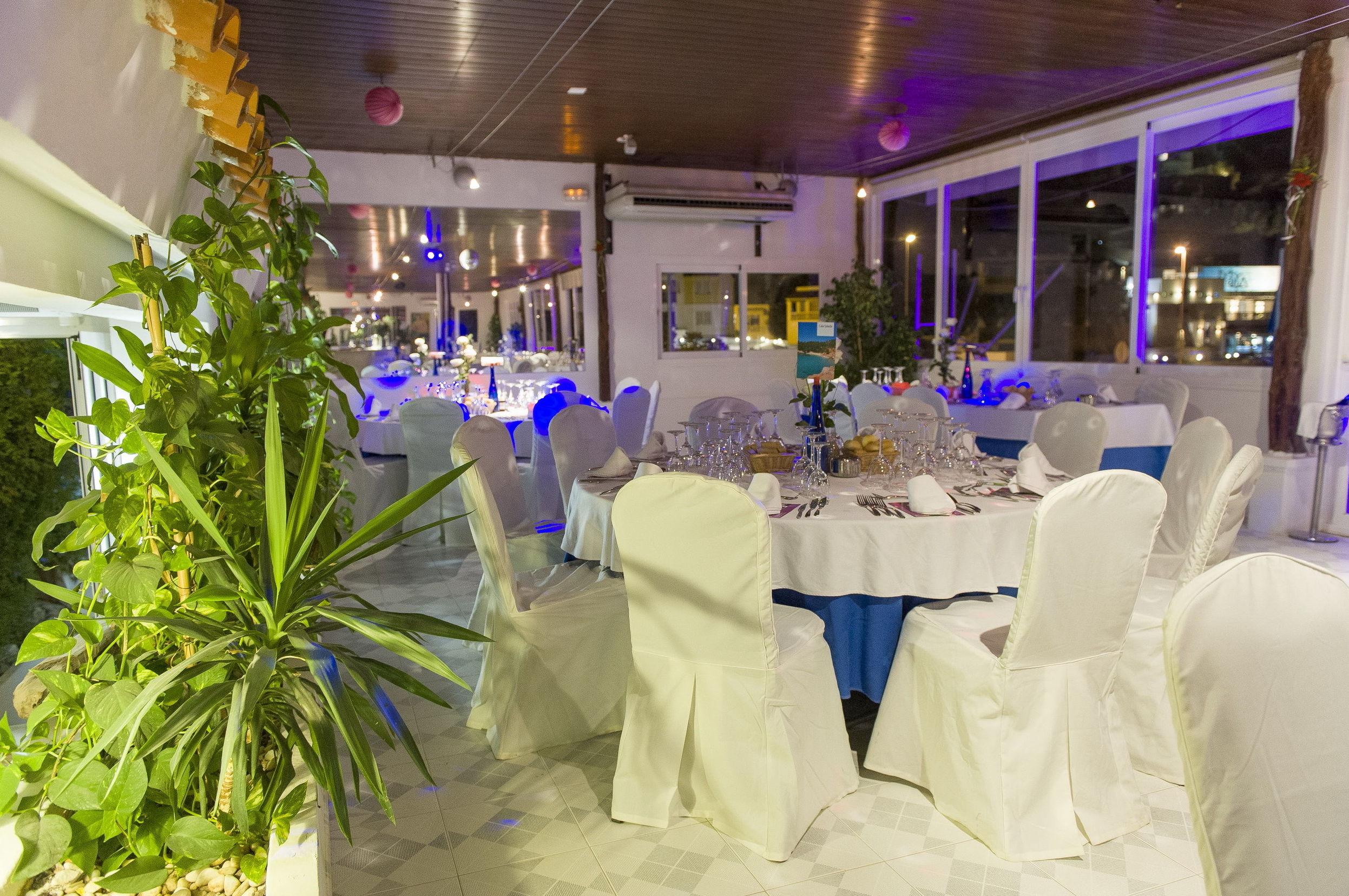Panorámica de salón del restaurante