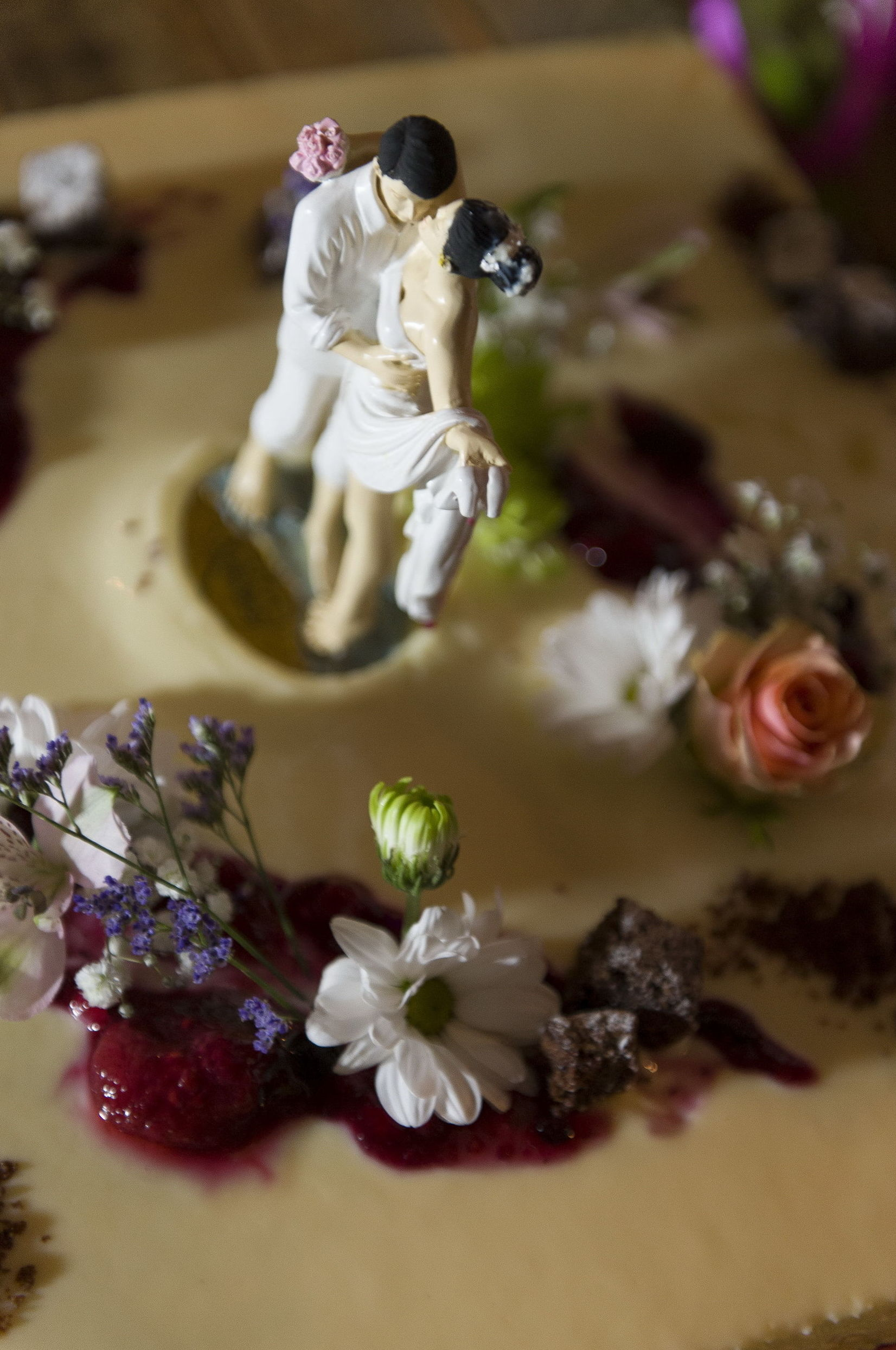 Detalle de los muñecos de la tarta