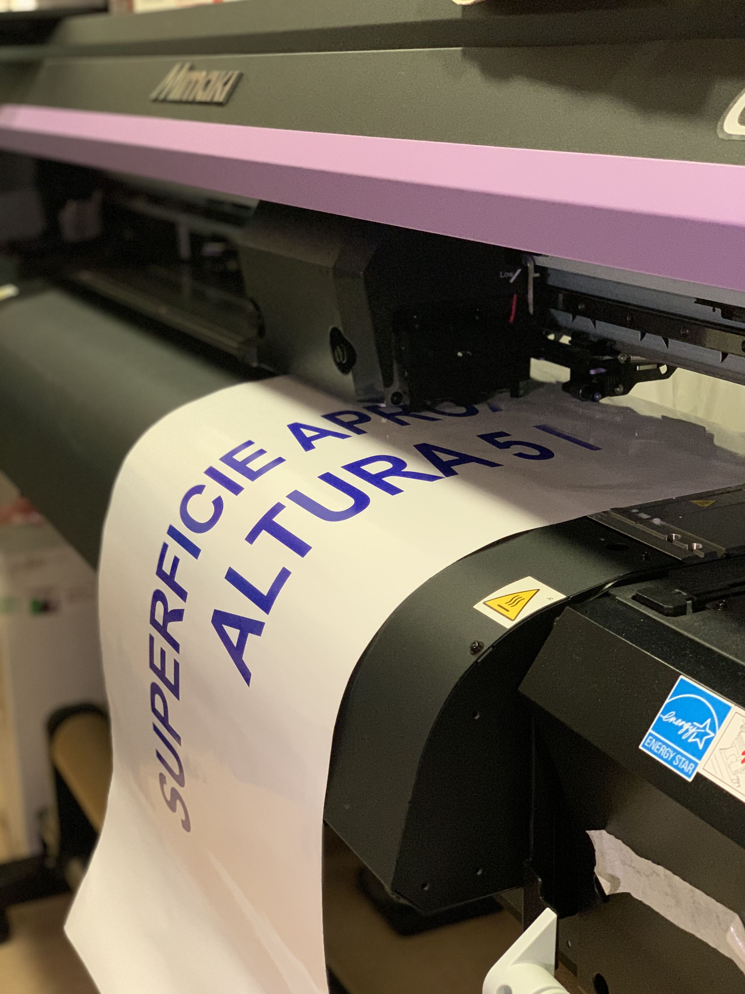 Vinilo monomérico impreso