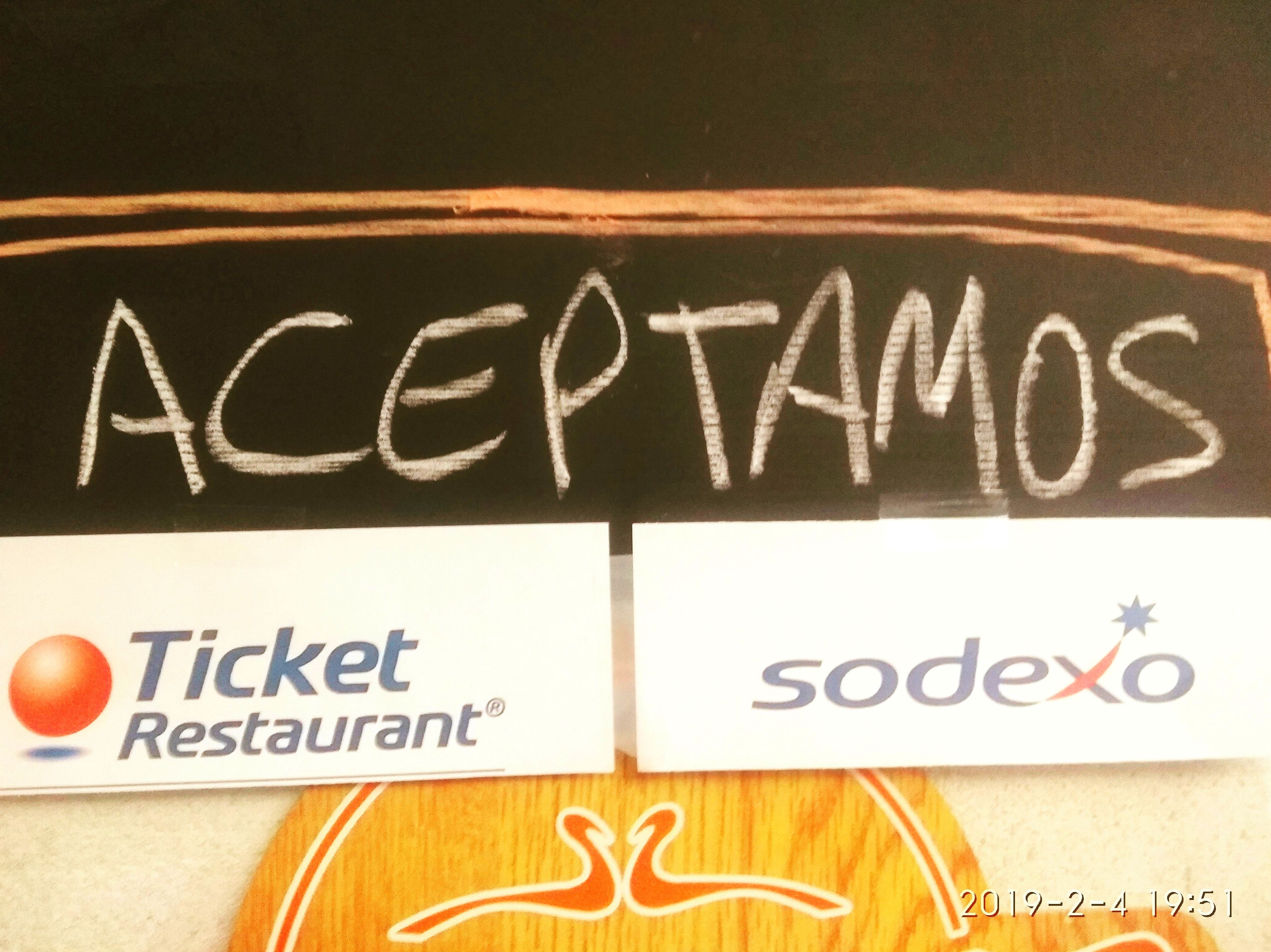PAGA CON TICKET RESTAURANT Y SODEXO