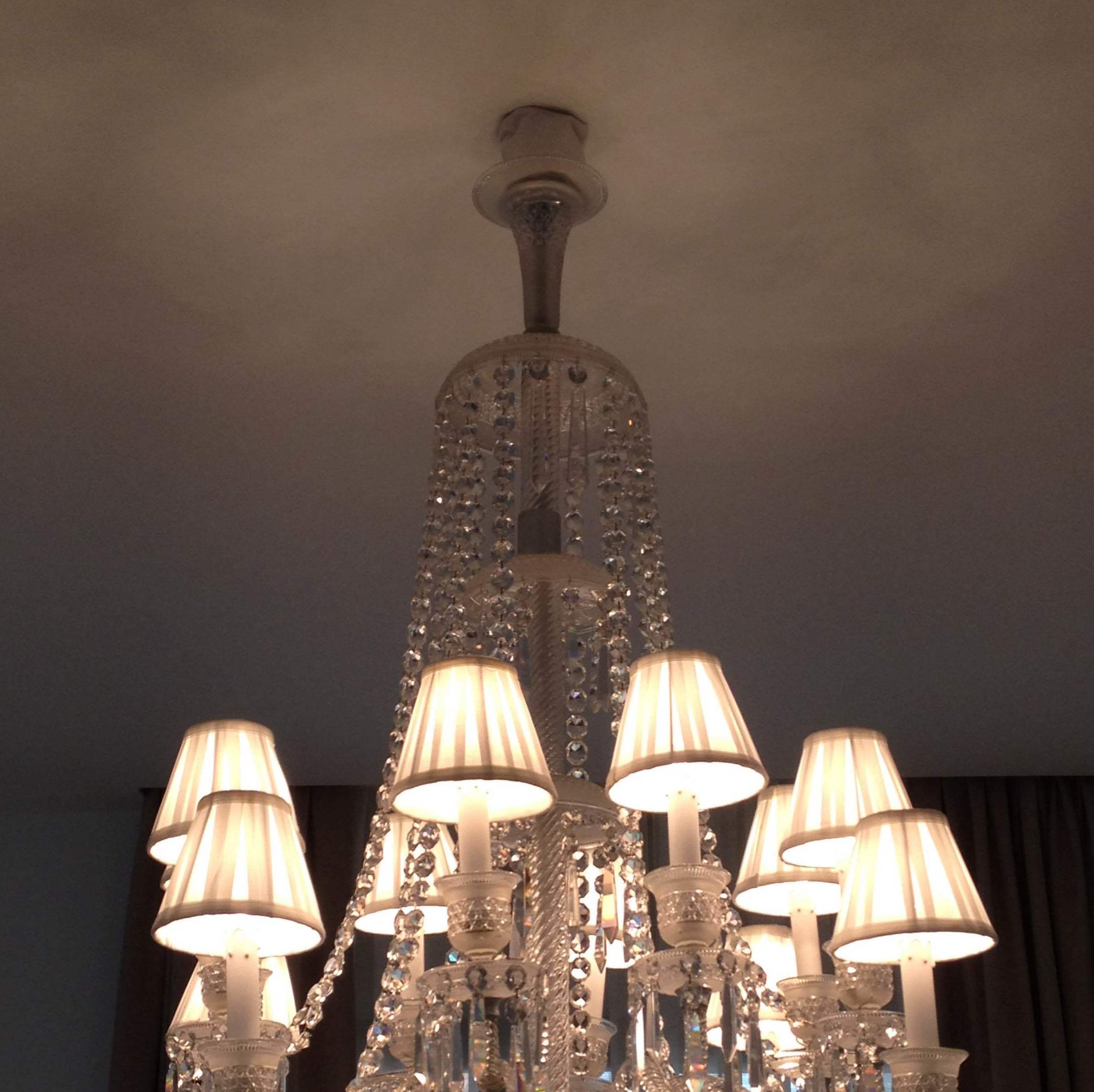 Lámpara antigua cristal Baccarat