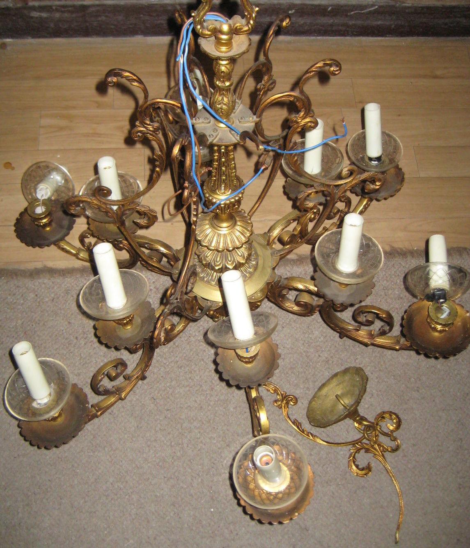 Lámpara de metal 12 luces (ANTES)