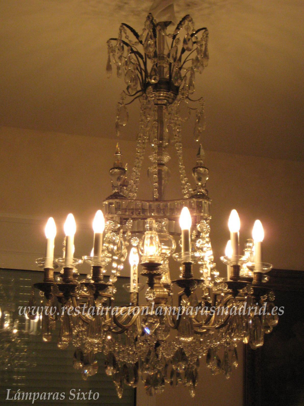 Lámpara antigua de Cristal de Roca.