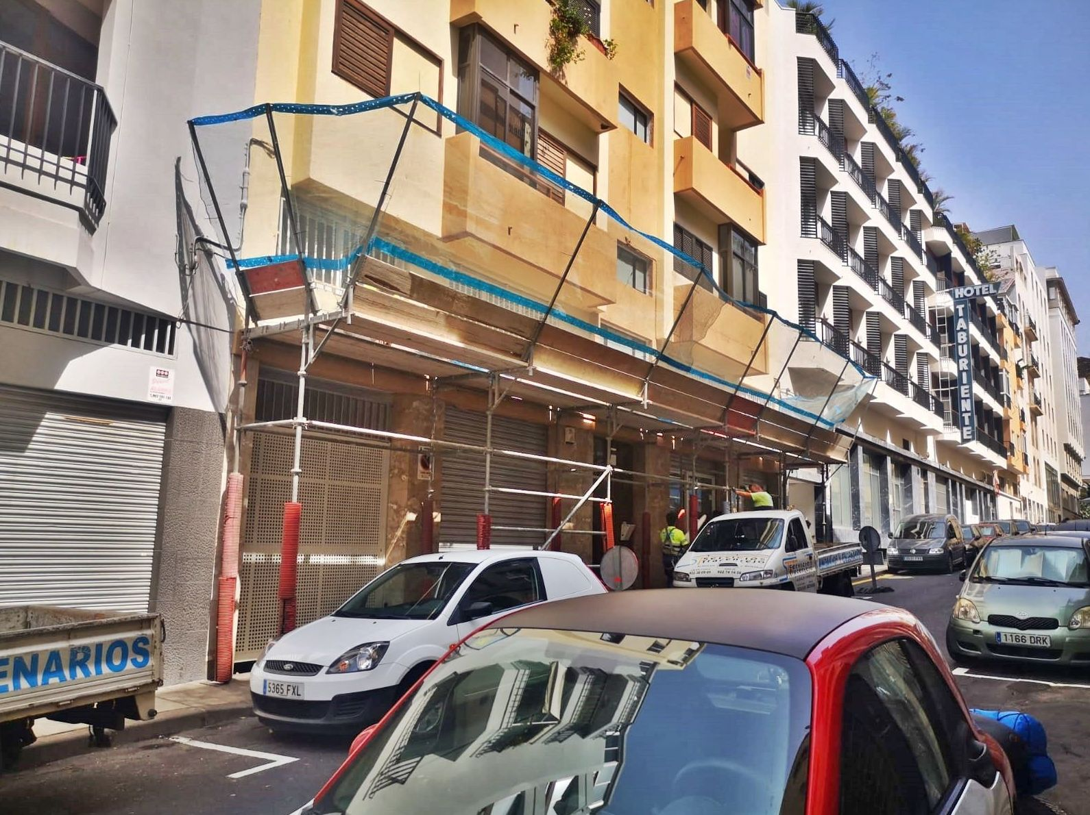 Marquesinas de protección. Tenerife.